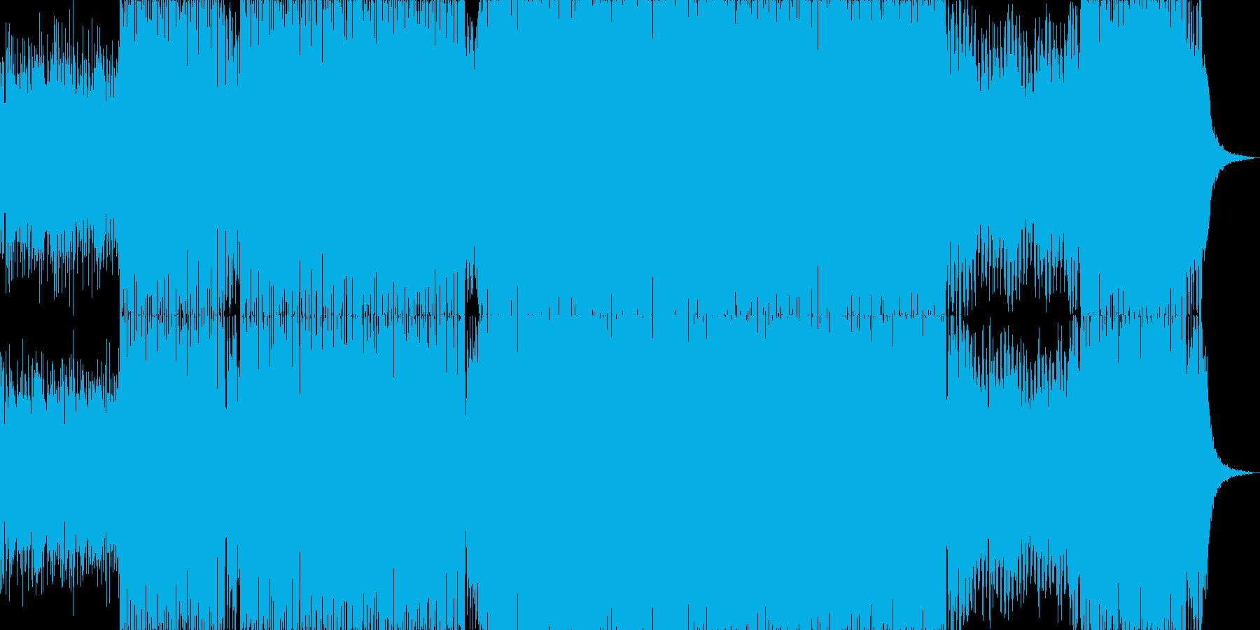 軽快で近未来的なエレクトロニックサウンドの再生済みの波形