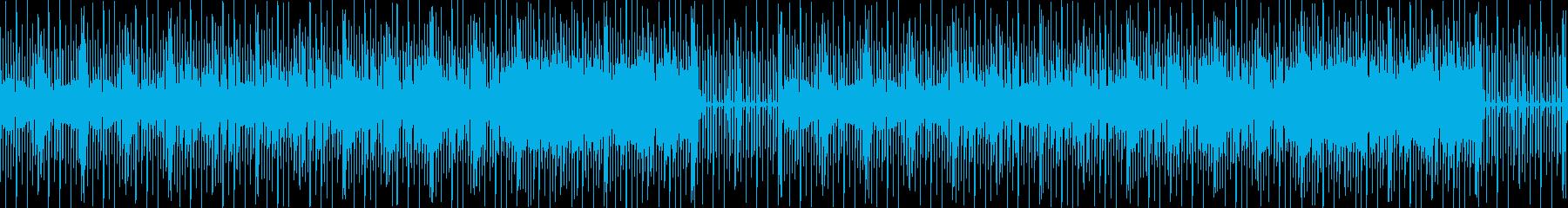 グルーヴィーなベースとディスコなビート曲の再生済みの波形