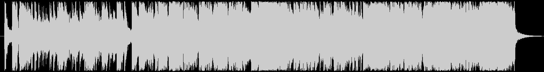 夜のビッグバンドジャズの未再生の波形