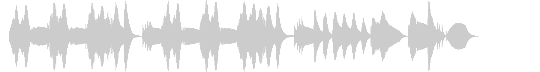 木琴の音でほのぼのとしたジングルの未再生の波形