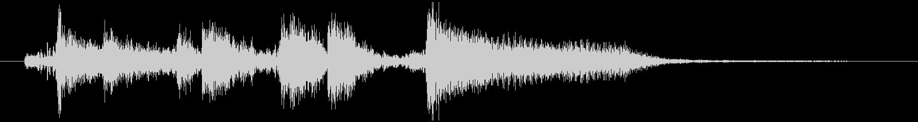 場面転換などにジャズジングル(4)の未再生の波形
