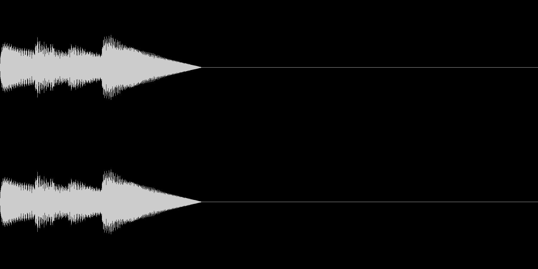 「ピロピロ♪」レトロゲーム風アイテムの未再生の波形