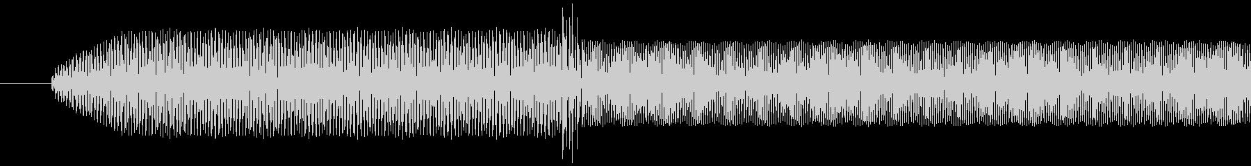 電子音 ピリッ! とても高い音の未再生の波形