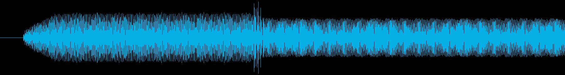 電子音 ピリッ! とても高い音の再生済みの波形