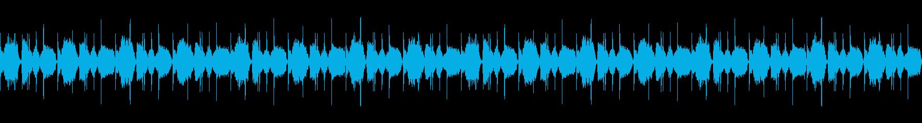 Lo-Fi HipHopのBGM用の再生済みの波形