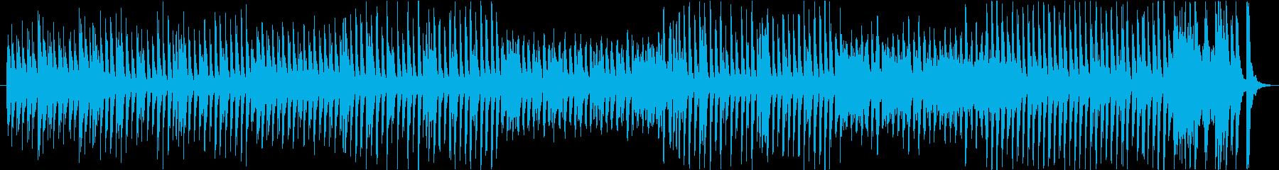 ユーモラスでちょっと怖い感じの曲の再生済みの波形