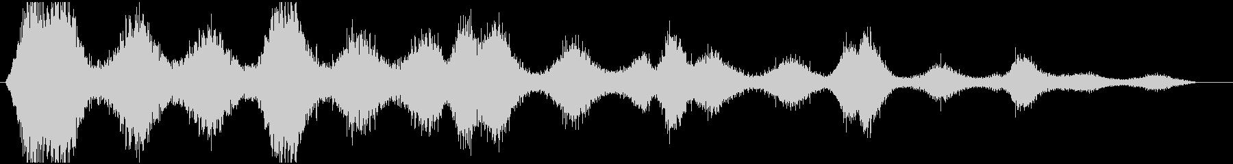 風の音 効果音の未再生の波形
