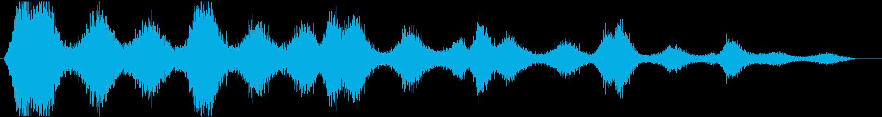 風の音 効果音の再生済みの波形