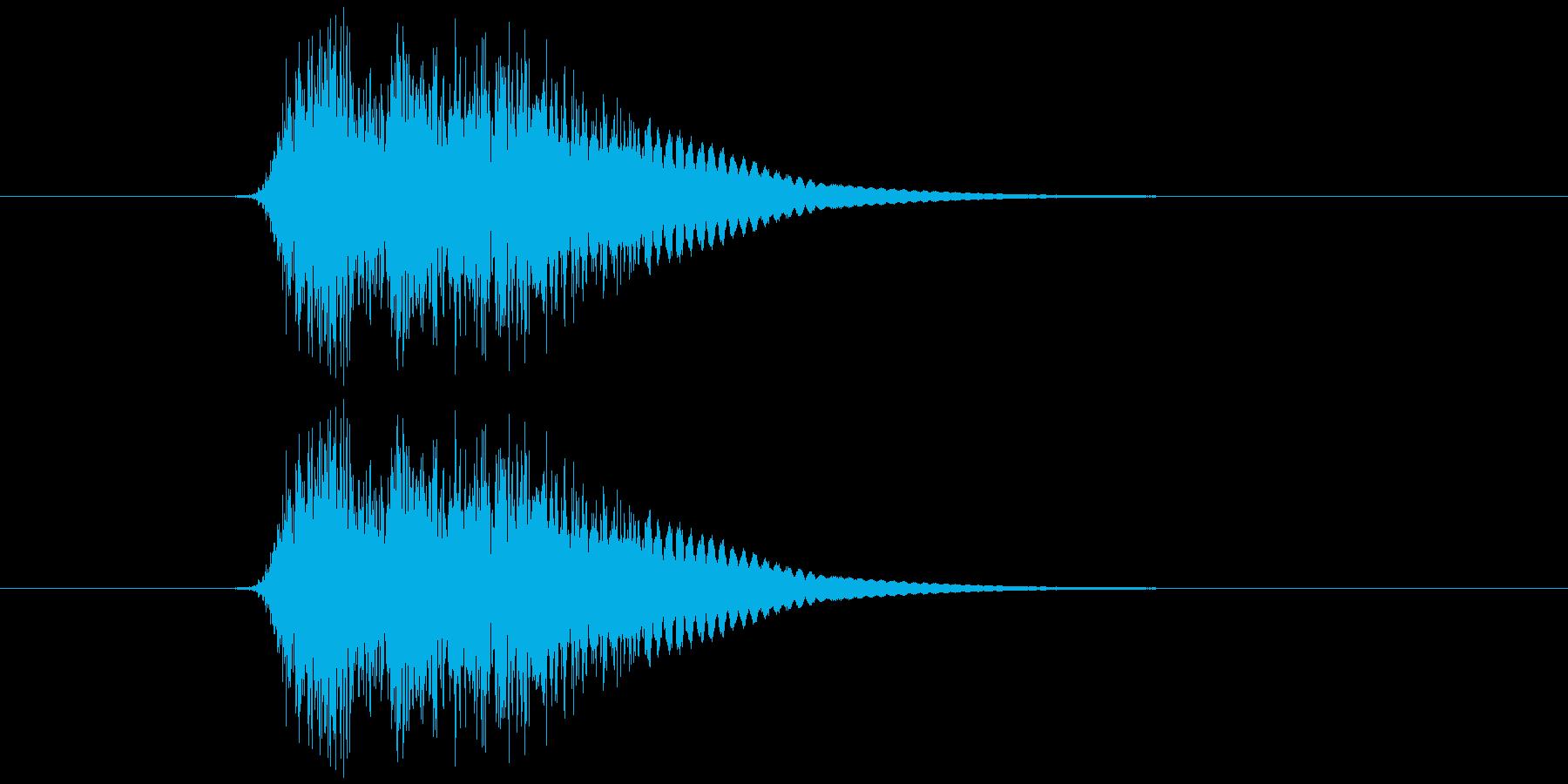 ザシュッ!(斬る音)の再生済みの波形