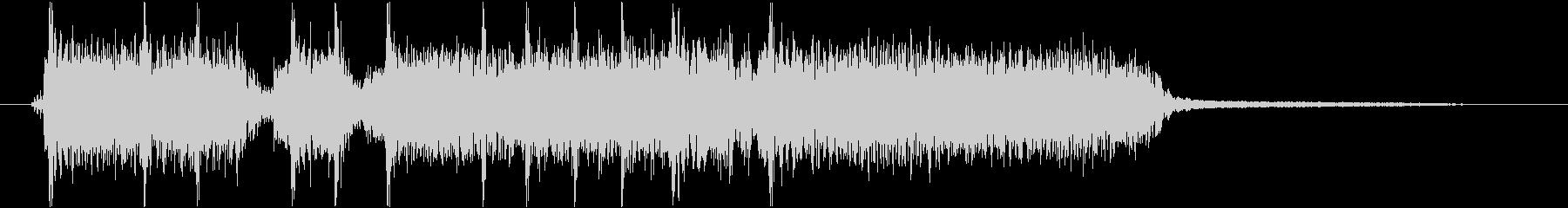 重い音のハードロックジングルの未再生の波形