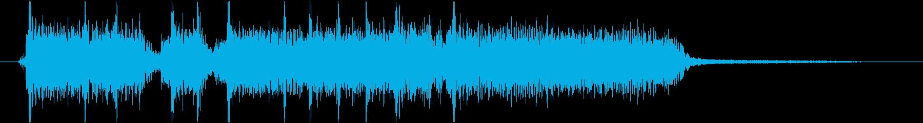 重い音のハードロックジングルの再生済みの波形