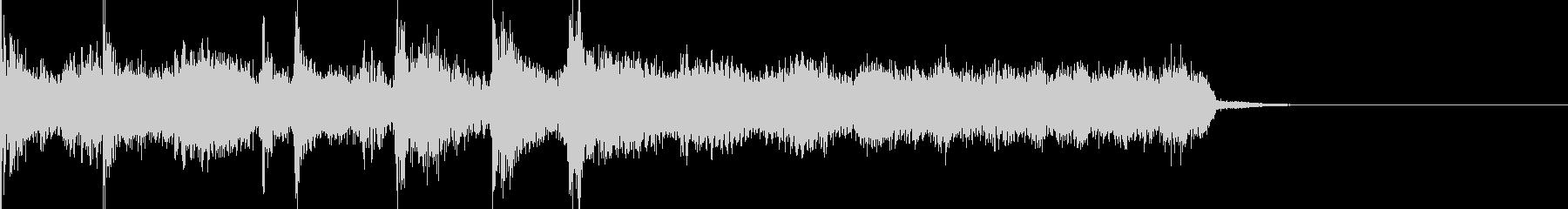 ジャズ風でオシャレなジングルの未再生の波形