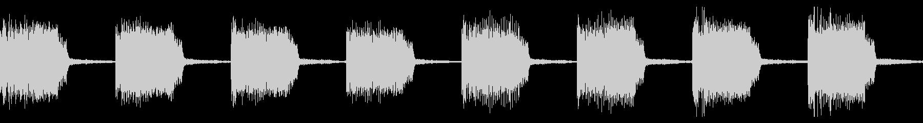 警告音 アラート 緊急事態02(ループ)の未再生の波形