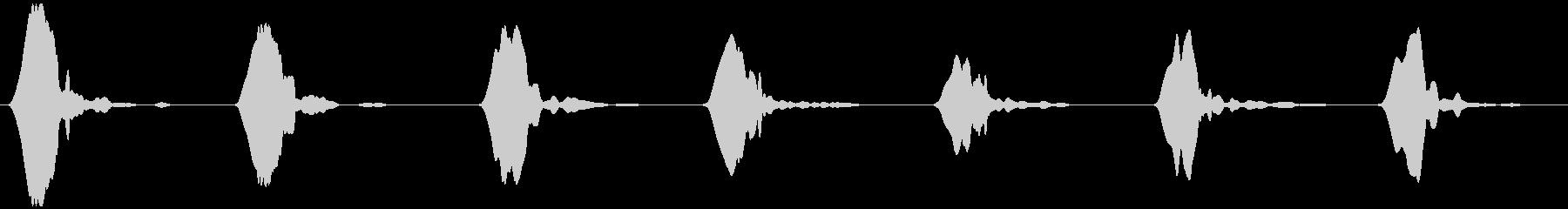 野鳥の、さえずりB  ヒッ×7の未再生の波形