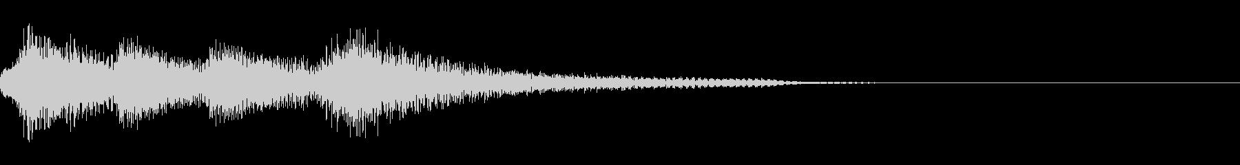 おしゃれなピアノのジングル12の未再生の波形