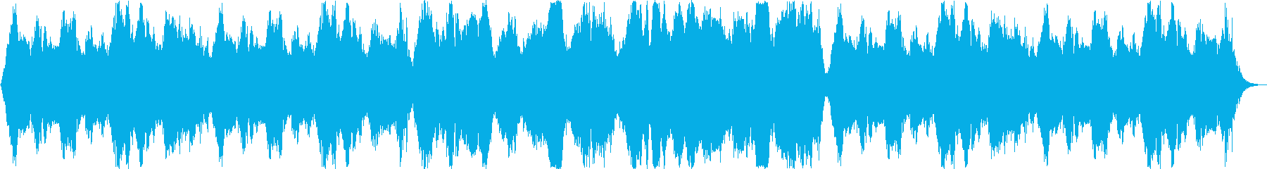 神秘的なシンセサイザーサウンドの再生済みの波形