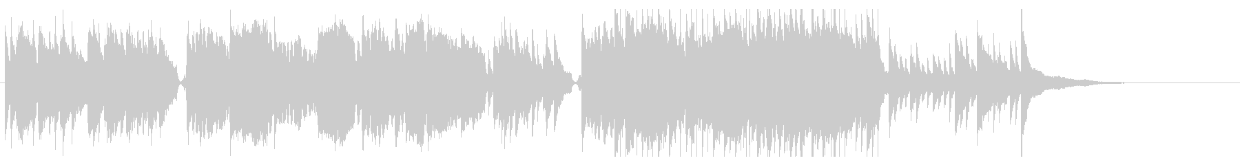 イントロが和風な雰囲気のBGMの未再生の波形