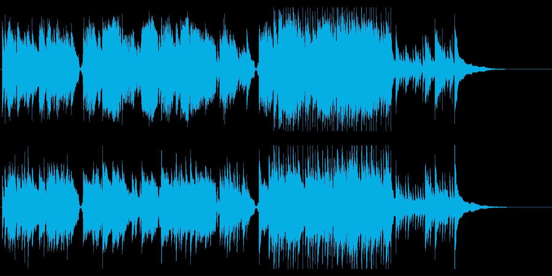 イントロが和風な雰囲気のBGMの再生済みの波形
