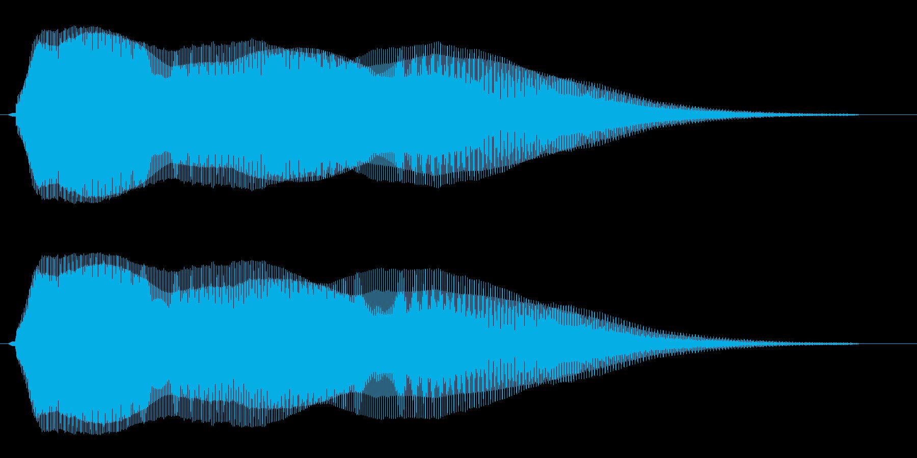 ゆっくりめに落下する音の再生済みの波形