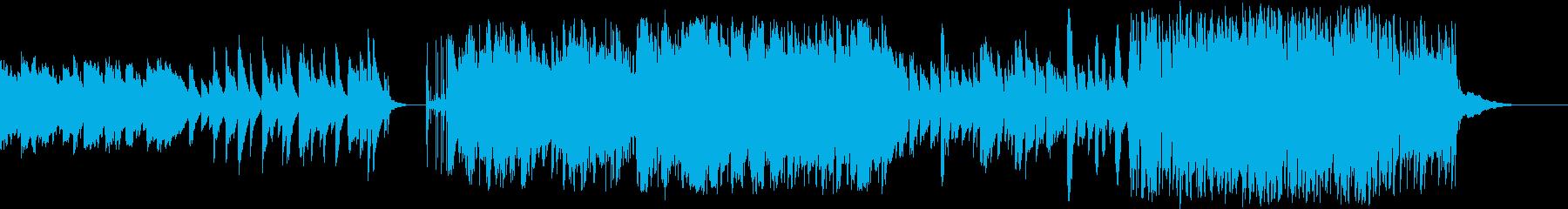 バッハの名曲のメロディを引用したポップスの再生済みの波形