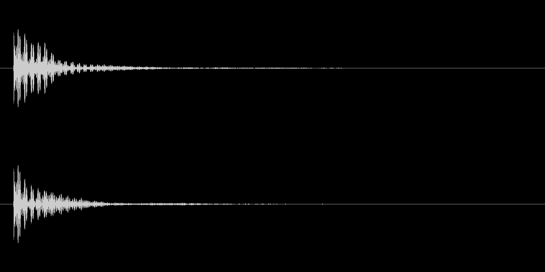 ポン カーソル音 タップ音 C#-15_の未再生の波形