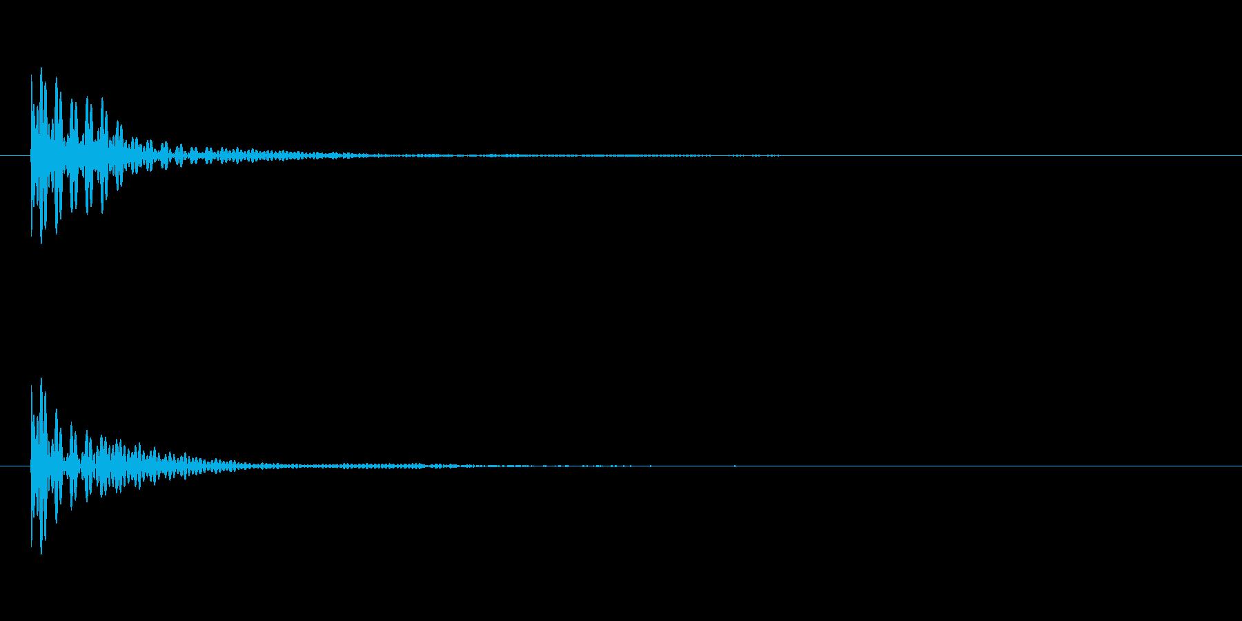 ポン カーソル音 タップ音 C#-15_の再生済みの波形