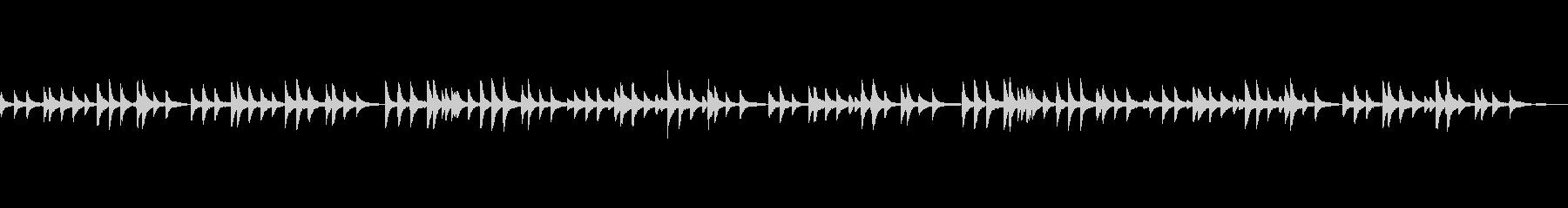 穏やかなクラシック、ピアノソロの未再生の波形
