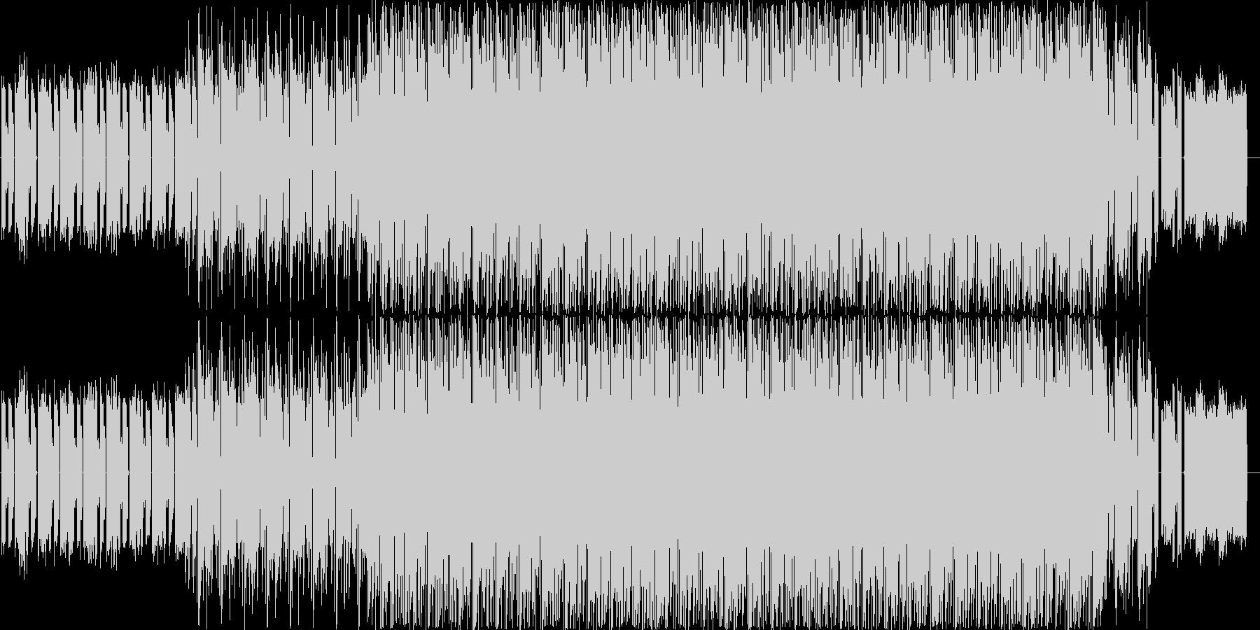 暖かみとデジタル感のあるエレクトロニカの未再生の波形
