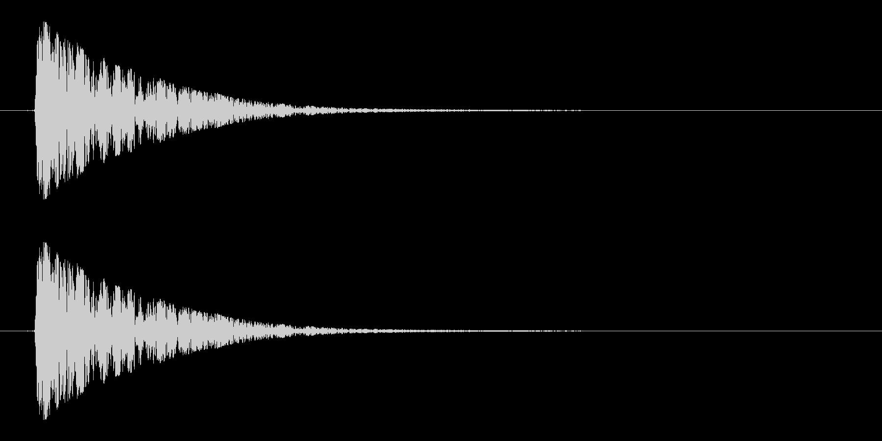 スイッチ、ボタン、クリックの未再生の波形