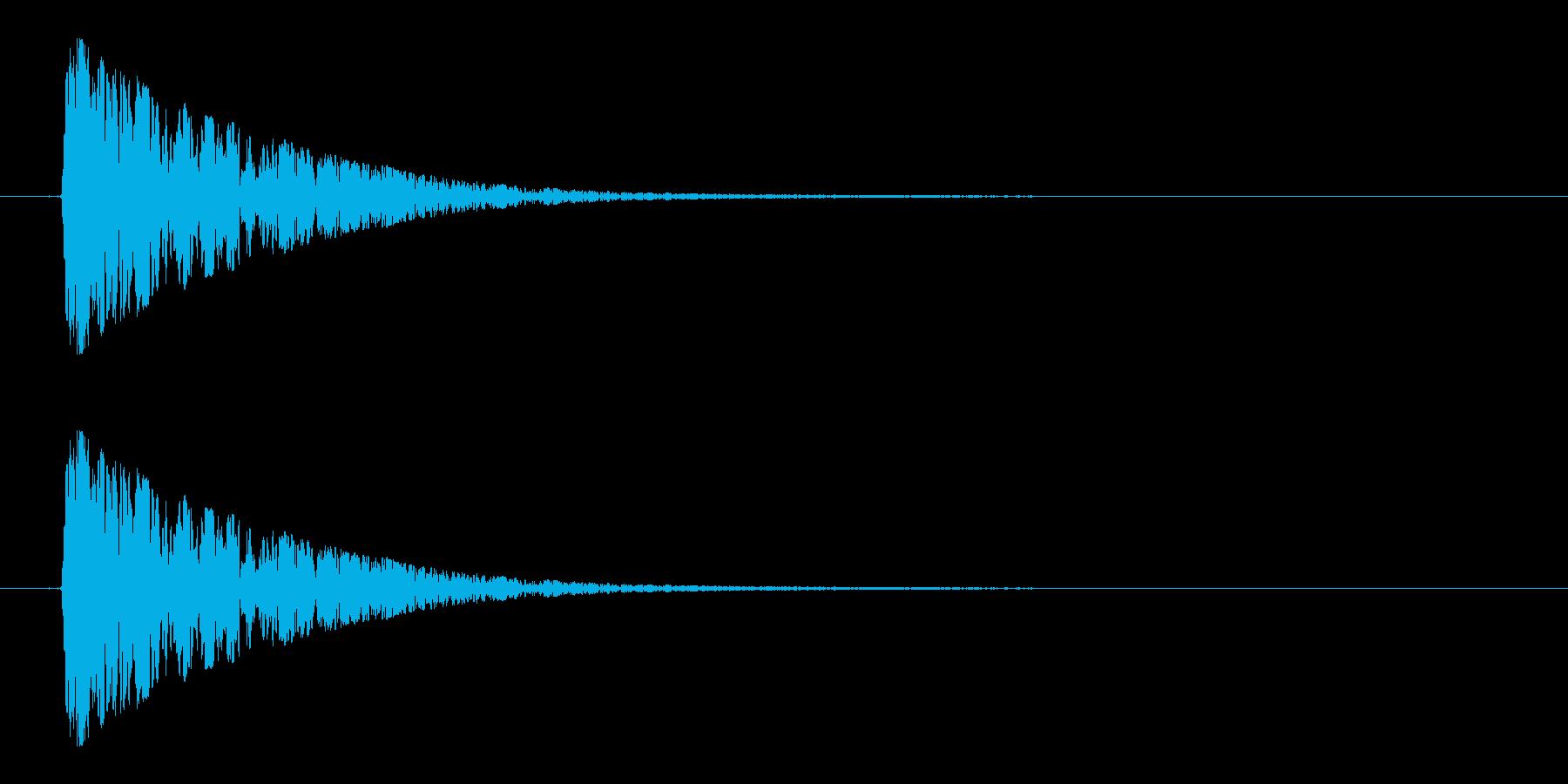スイッチ、ボタン、クリックの再生済みの波形