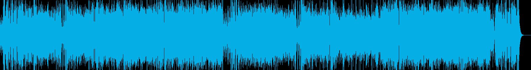 ヒーロー・戦隊モノのテーマソングの様な曲の再生済みの波形