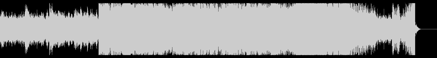 渦巻に吸い込まれるイメージのジングルの未再生の波形