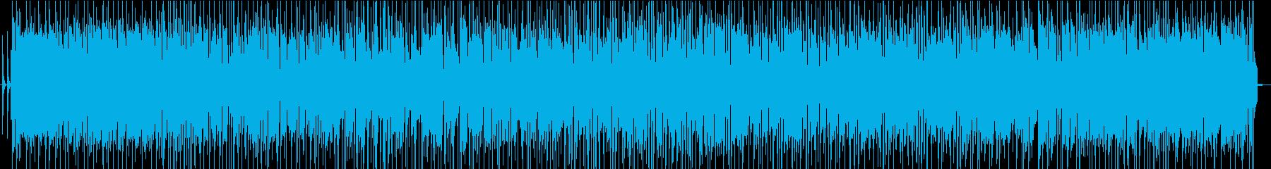 ギターフレーズとリフの繰り返す追跡ギターの再生済みの波形