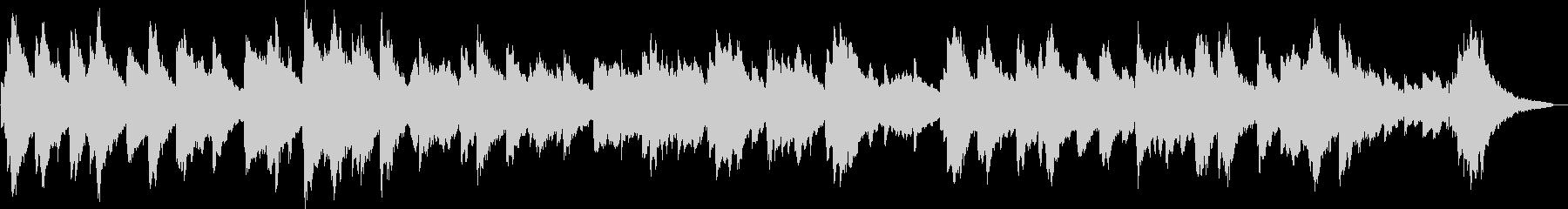 ローズピアノの眠くなるBGMの未再生の波形