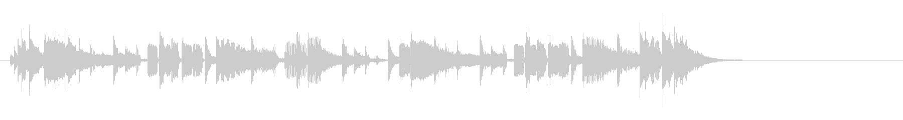 テーマ2:ドラム、ベースの未再生の波形