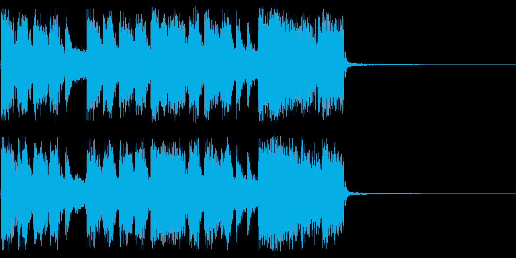 重くて激しいロックの再生済みの波形