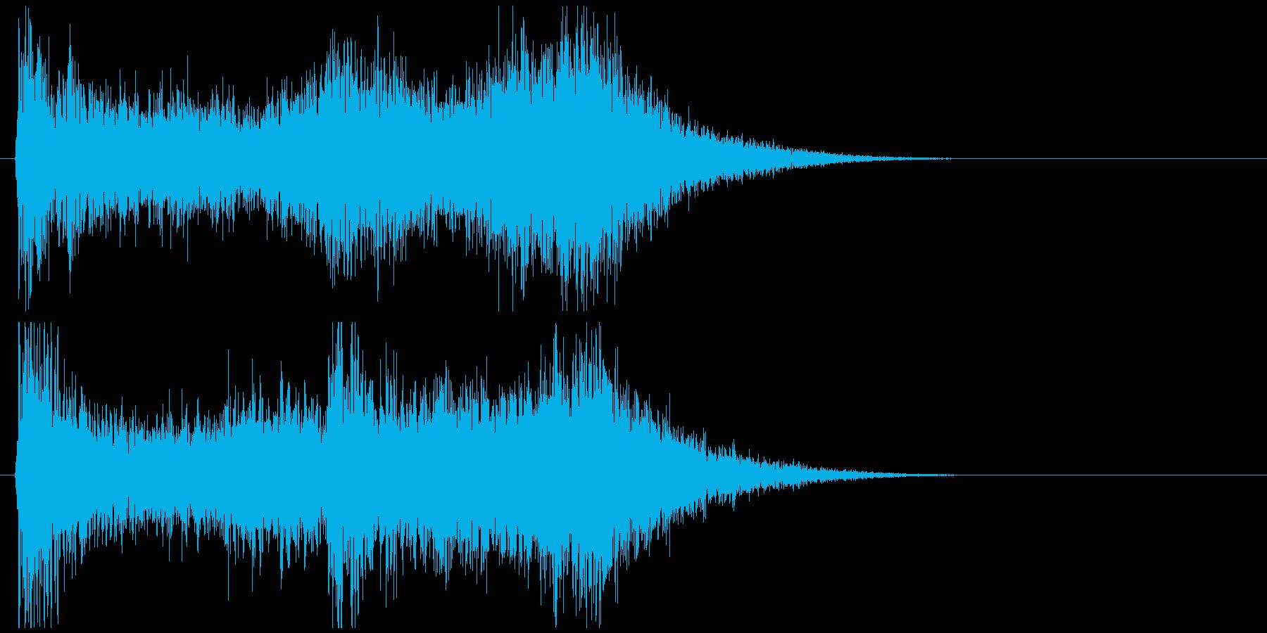 「不快音注意」ホラーME 短い雰囲気音の再生済みの波形