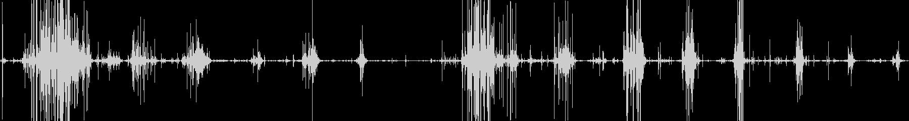 揚げ物を食べるカリカリサクサクとした音の未再生の波形