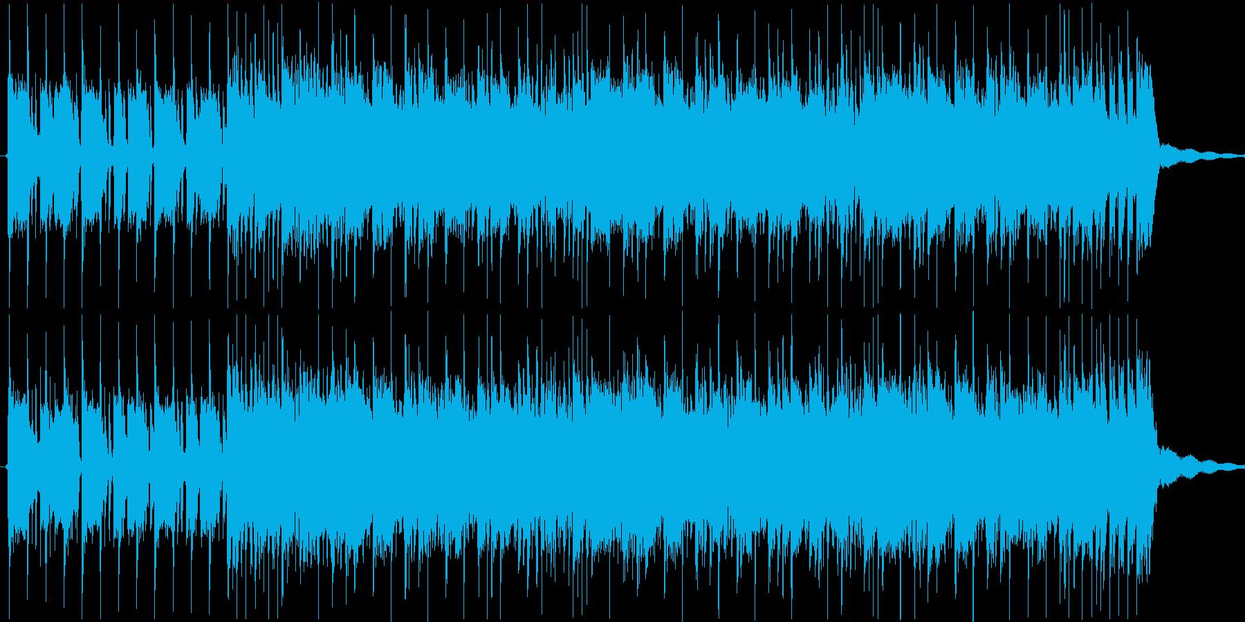 軽快でポップなギターカッティングの再生済みの波形
