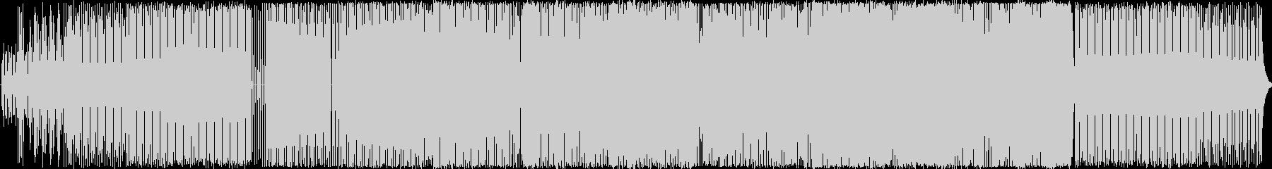 シンセサウンドのダンスBGMの未再生の波形