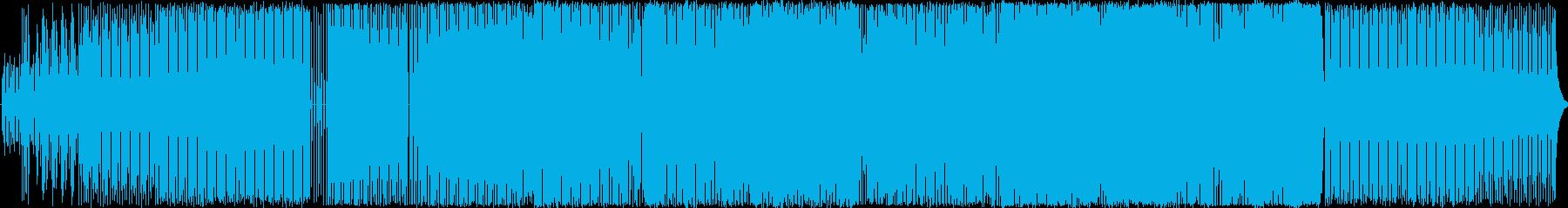 シンセサウンドのダンスBGMの再生済みの波形