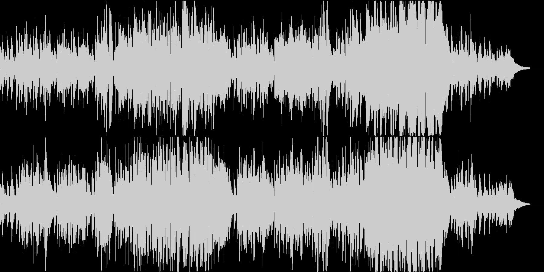 ピアノを使用したメランコリックなワルツの未再生の波形
