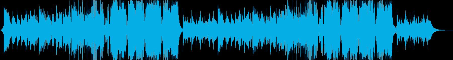 美しい篠笛の和風Future Bassの再生済みの波形