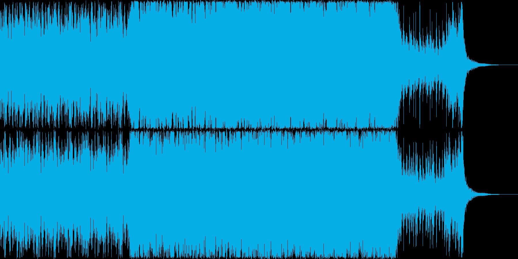 勇壮なオーケストライメージの戦闘の再生済みの波形