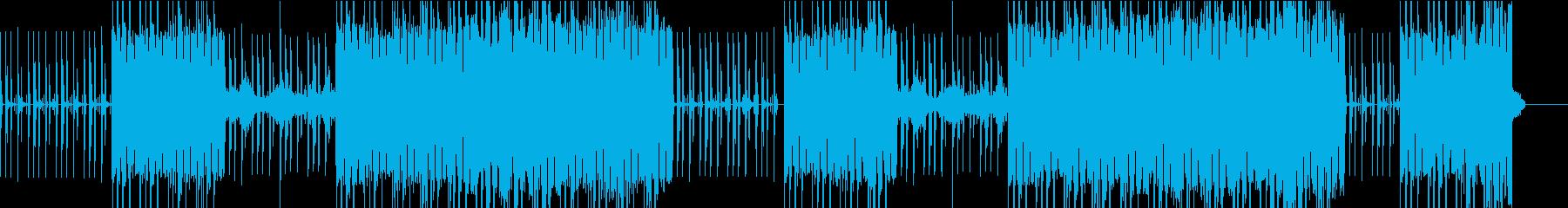 力強いベースが印象的なヒップホップの再生済みの波形