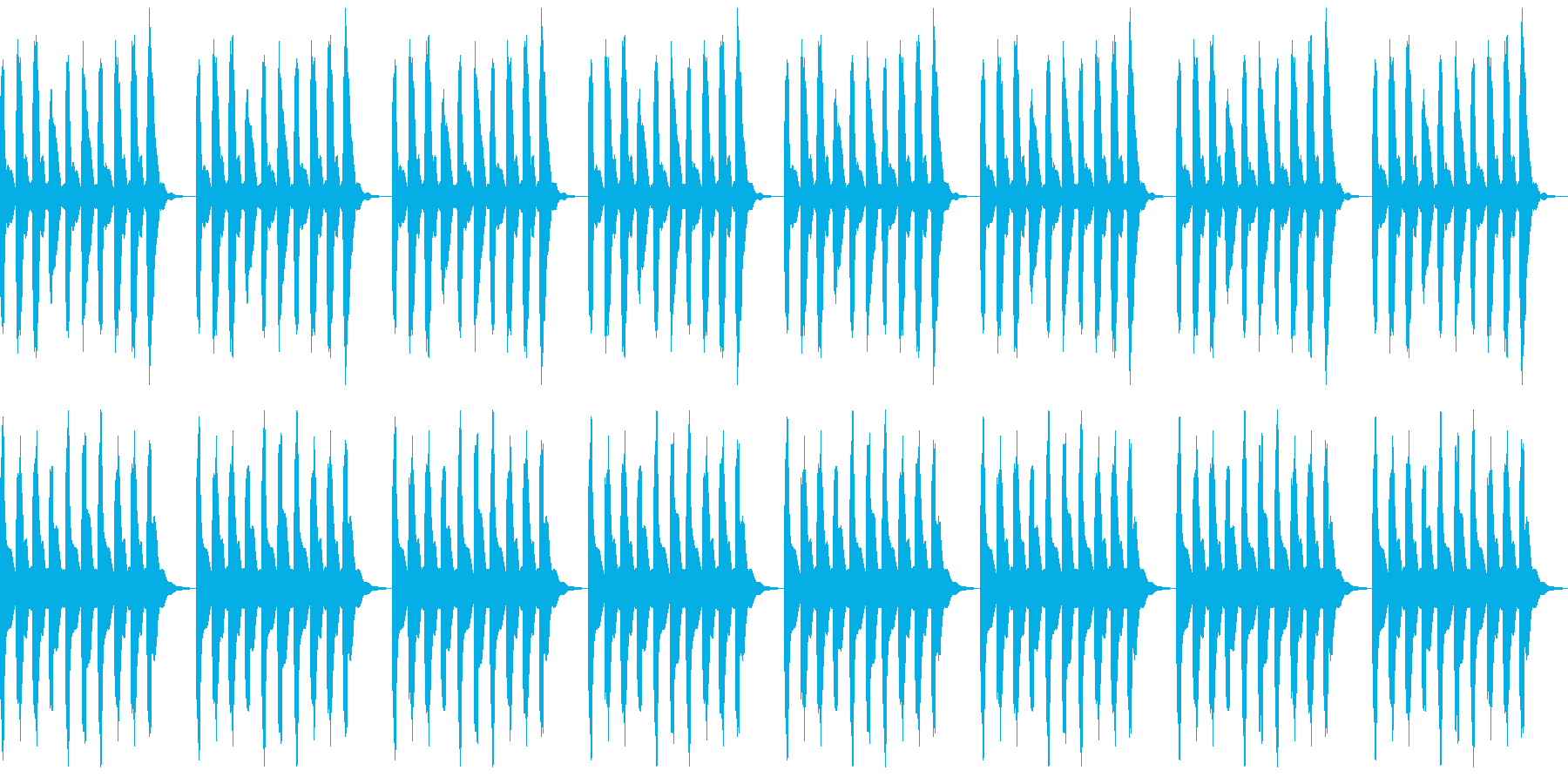 水中を漂うような浮遊感のある曲の再生済みの波形
