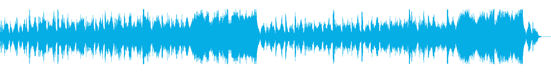 優雅で上品で落ち着いているワルツ曲の再生済みの波形