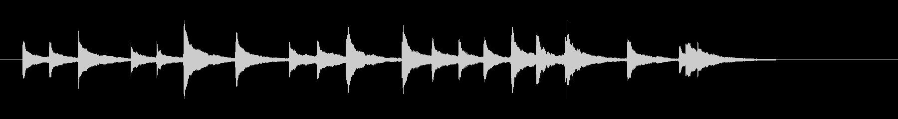トイピアノで作った短くて可愛いジングルの未再生の波形