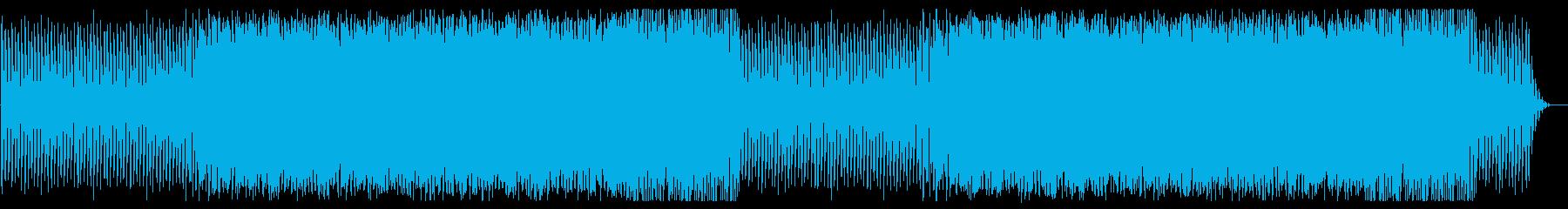 リズム感のいいトランス調のBGMの再生済みの波形