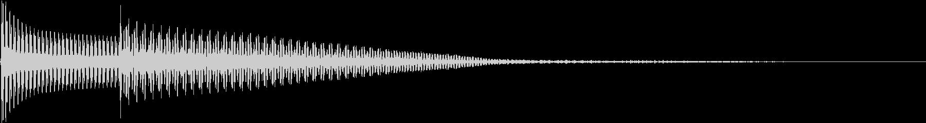 PUSH 注意歓喜 決定音 シャッター音の未再生の波形